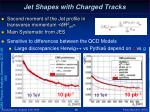 jet shapes with charged tracks
