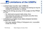 limitations of the usbpix