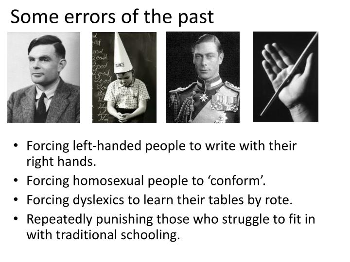 Some errors of the past