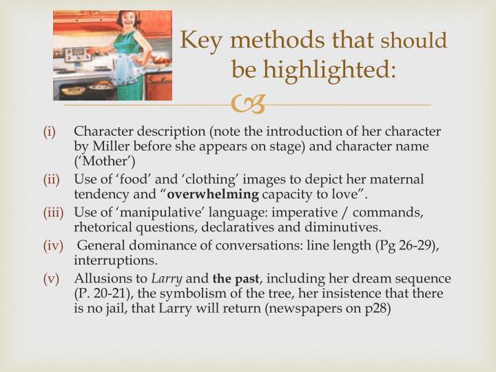 Key methods that