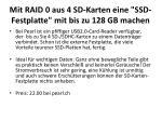 mit raid 0 aus 4 sd karten eine ssd festplatte mit bis zu 128 gb machen1