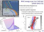 rhic energy scan s 7 40 gev 2010 2012
