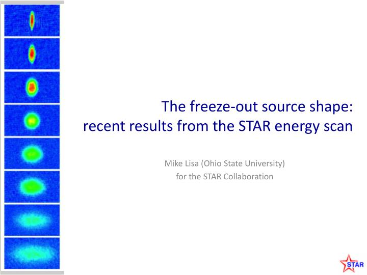 the freeze out source shape recent results from the star energy scan n.