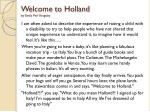 welcome to holland by emily perl kingsley