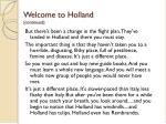 welcome to holland continued