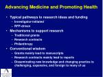 advancing medicine and promoting health