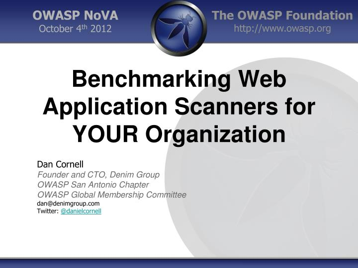 benchmarking web application scanners for your organization n.