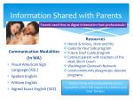 information shared with parents1