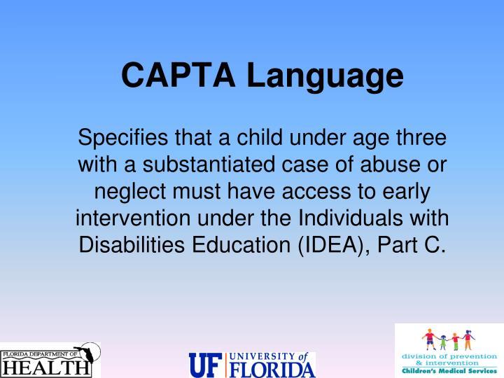 CAPTA Language