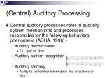 central auditory processing1