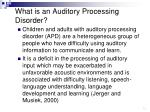 what is an auditory processing disorder