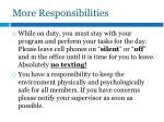 more responsibilities