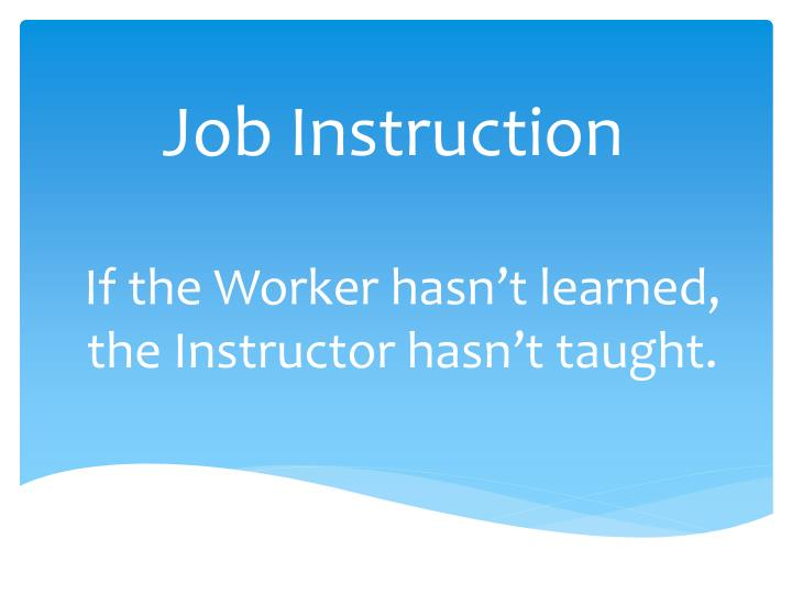 job instruction n.