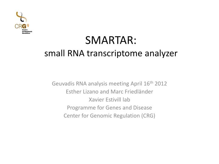 smartar small rna transcriptome analyzer n.