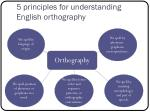 5 principles for understanding english orthography