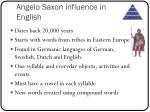 angelo saxon influence in english