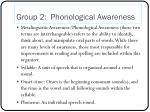 group 2 phonological awareness