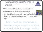 norman french influence in english