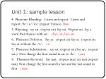 unit 1 sample lesson
