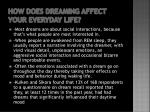 how does dreaming affect your everyday life
