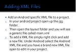 adding xml files