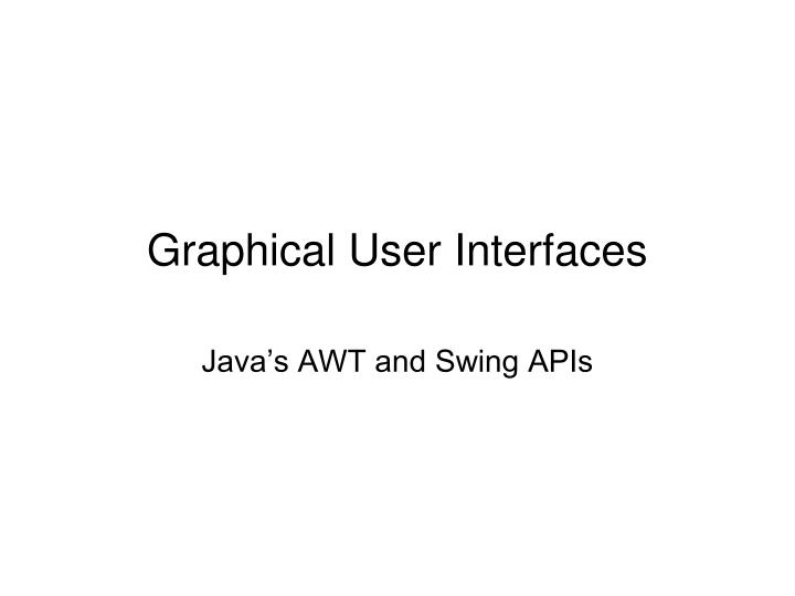graphical user interfaces n.