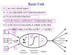 basic unit