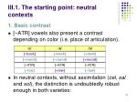 iii 1 the starting point neutral contexts