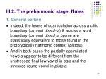 iii 2 the preharmonic stage nules2
