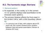 iii 3 the harmonic stage borriana