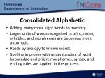 consolidated alphabetic
