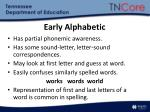 early alphabetic