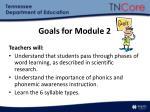 goals for module 2