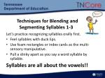 techniques for blending and segmenting syllables 1 3