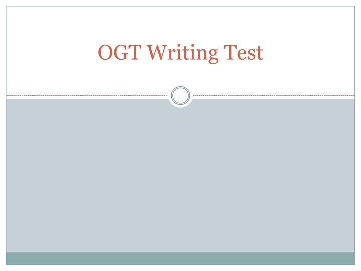 ogt writing test n.