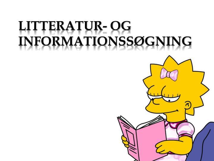 Litteratur- og informationssøgning
