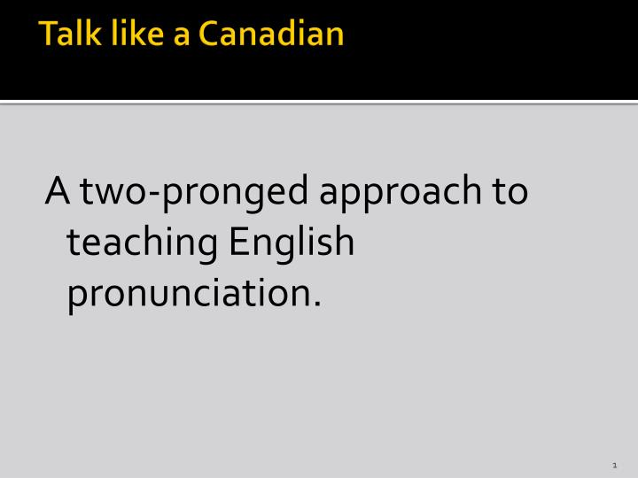 talk like a canadian n.