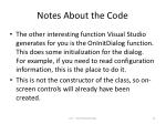 notes about the code
