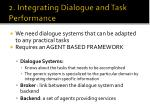 2 integrating dialogue and task performance