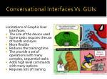 conversational interfaces vs guis