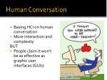 human conversation