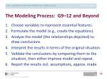 the modeling process g9 12 and beyond