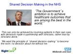 shared decision making in the nhs
