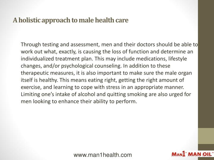 A holistic approach to male health