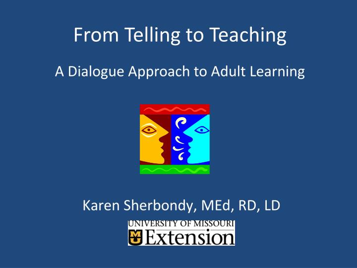 from telling to teaching n.