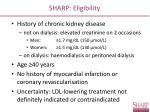 sharp eligibility