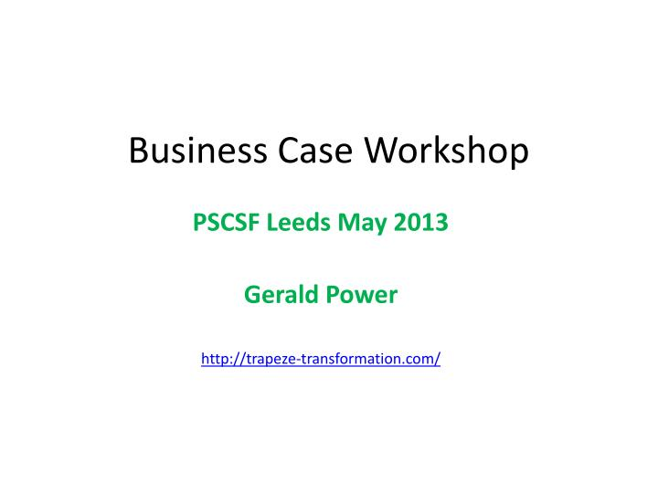 business case workshop n.