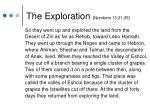 the exploration numbers 13 21 25