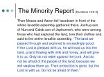 the minority report numbers 14 5 9