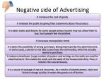 negative side of advertising
